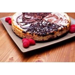 Ucierany sernik waniliowo-czekoladowy