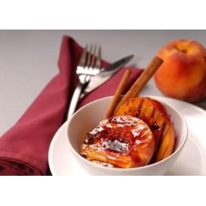 Pieczone brzoskwinie zapiekane w bursztynowym sosie z migdałami