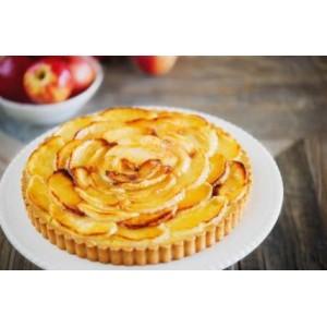 Pełnoziarnista krucha tarta z glazurowanymi jabłkami